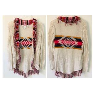 American Rag Aztec Open Cardigan